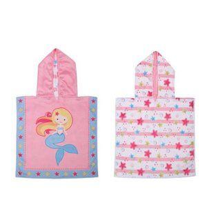 Indigo REVERSIBLE BABY PONCHO COVER UP Towel
